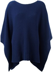 Incentive Cashmere Boat Neck Jumper Blue