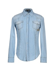 Roberto Cavalli Denim Shirts Blue