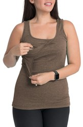 Bun Maternity Nursing Tank Smokey Brown