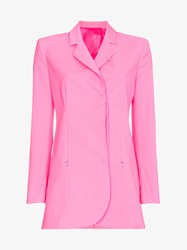 Alyx Single Breasted Box Fit Virgin Wool Blazer Pink And Purple