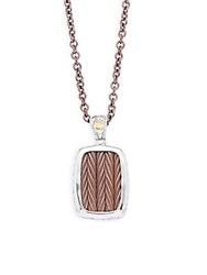 Alor Stainless Steel Cable Woven Necklace No Color