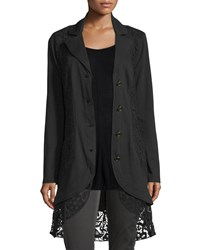 Xcvi Paisley Crochet Detailed Jacket Plus Size Black
