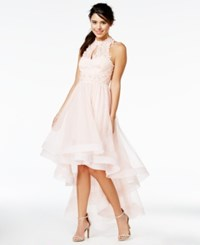 Say Yes To The Prom Juniors' Embellished High Low Halter Dress A Macy's Exclusive Blush
