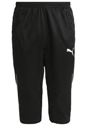 Puma 3 4 Sports Trousers Noir Blanc Black