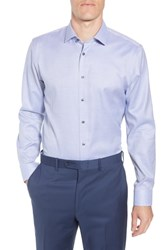 Calibrate Big And Tall Trim Fit Non Iron Solid Dress Shirt Blue French