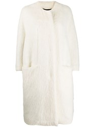 Gianluca Capannolo Shearling Single Breasted Coat 60