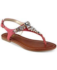 G By Guess Londeen Embellished Flat Sandals Women's Shoes Coral