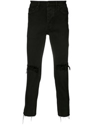 Ksubi Distressed Skinny Jeans Men Cotton 31 Black