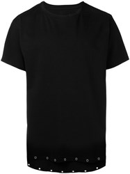 Rta Eyelets Detail T Shirt Black