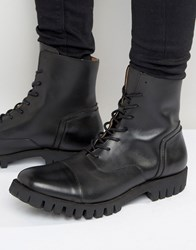 Selected Homme Varian Leather Lace Up Boots Black