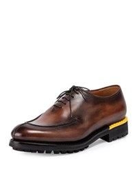 Berluti Lace Up Leather Oxford Brown