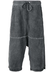 Lost And Found Rooms Drawstring Waistband Shorts Grey