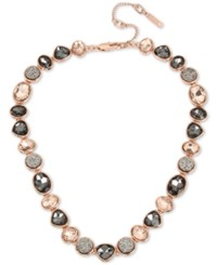 Kenneth Cole New York Rose Gold Tone Multi Stone Collar Necklace 15 3 Extender