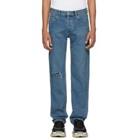 Balenciaga Blue Knee Hole Archetype Jeans
