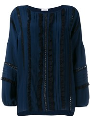 P.A.R.O.S.H. Sequin Stripe Blouse Blue