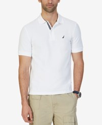 Nautica Big And Tall Men's Shirt Solid Deck Performance Polo Bright White
