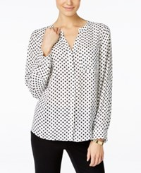 Inc International Concepts Polka Dot Blouse Only At Macy's Junior Dot