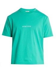 Everest Isles Horizon Cotton Jersey T Shirt Green
