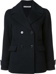 Vince Double Breasted Short Coat Blue