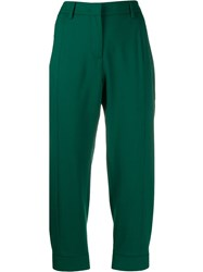 Alberto Biani Cropped Trousers Green