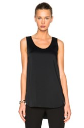 Victoria Beckham Heavy Matte Satin Tank Top In Black