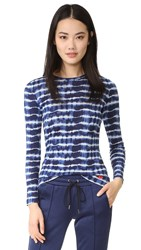 Tory Burch Beverly T Shirt Tie Dye Stripe