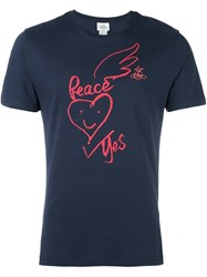 Vivienne Westwood Man 'War And Peace' T Shirt Blue