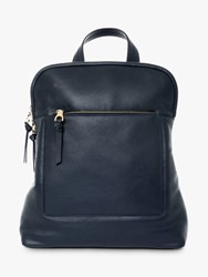 Jaeger Oxford Leather Backpack Navy