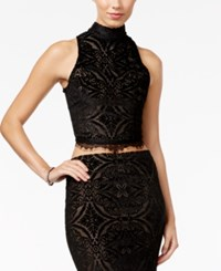 Material Girl Juniors' Lace Detail Crop Top Only At Macy's Black Combo