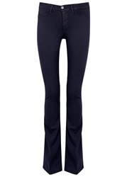 Mih Jeans The Skinny Marrakesh Navy Flared Leg Jeans
