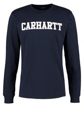 Carhartt Wip Long Sleeved Top Navy White Dark Blue