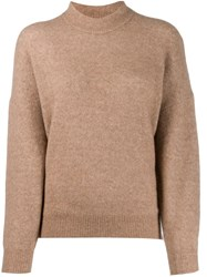 Iro Almy Camel Hair Sweater Brown