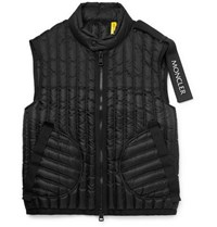 Moncler Genius 5 Craig Green Grosgrain Trimmed Quilted Shell Down Gilet Black