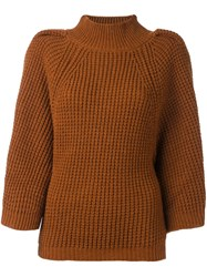 Stefano Mortari Ribbed Jumper Brown