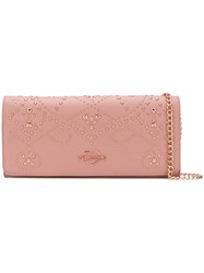 Love Moschino Embellished Clutch Bag Pink