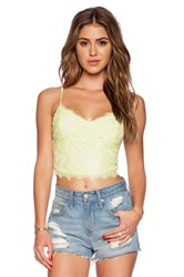 Greylin Stasia Floral Lace Cami Yellow