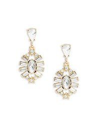Rj Graziano Faceted Crystal Drop Earrings Gold