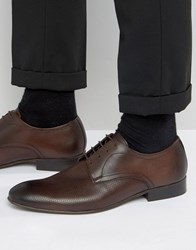 Base London Statement Leather Derby Shoes Brown