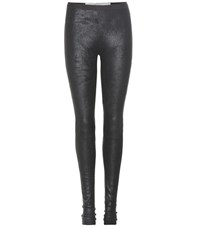 Rick Owens Suede Leggings Black