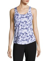 Design Lab Lord And Taylor Twist Tank Top Abstract Purple