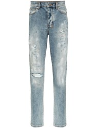 Ksubi Chitch Rekonize Ruins Distressed Jeans Blue
