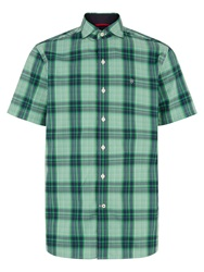 Victorinox Check Classic Fit Short Sleeve Shirt Green