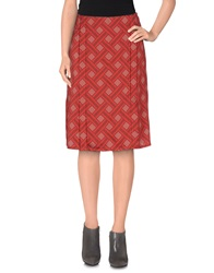 Jonathan Saunders Knee Length Skirts Red