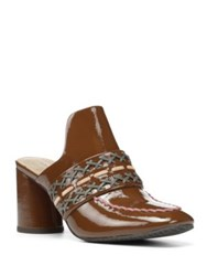 Donald J Pliner Garcea Leather Slip On Mules Caramel