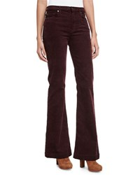 7 For All Mankind Ginger Flare Leg Corduroy Pants Wine