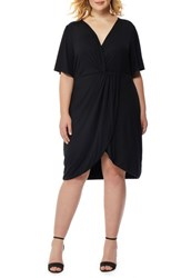 Rebel Wilson X Angels Plus Size Women's Twist Front Dress Black