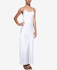 Fame And Partners Tie Back Halter Dress White