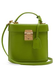 Mark Cross Benchley Grained Leather Shoulder Bag Green
