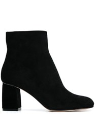 Red Valentino V Side Zip Ankle Boots Black