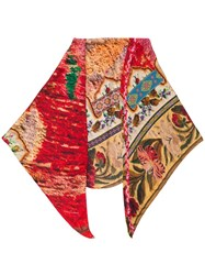 Pierre Louis Mascia All Over Print Scarf Red